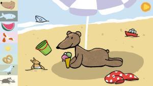 Emma en la playa